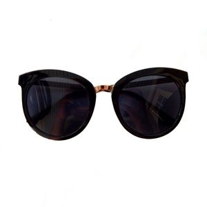 Large Black Sunglasses, Round Chic Glasses, Retro